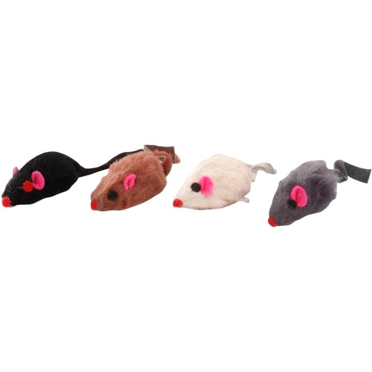 Ebi Nature Shorthair Fur Mouse with Bell