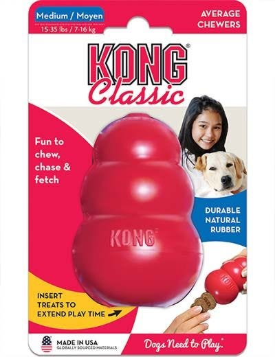 Kong Classic Rubber Dog Toy - Red