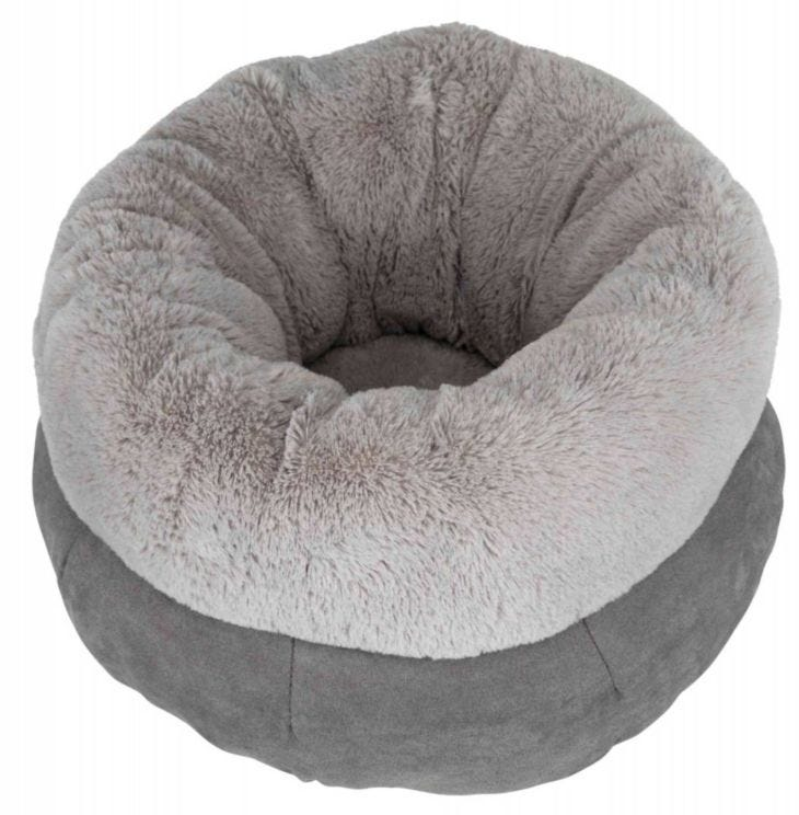 Trixie Dog Bed Elsie Round Place To Rest Grey - Calming Pet Bed