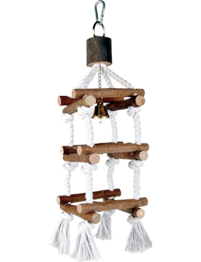 Trixie Natural Living Tower with Rope & Bell