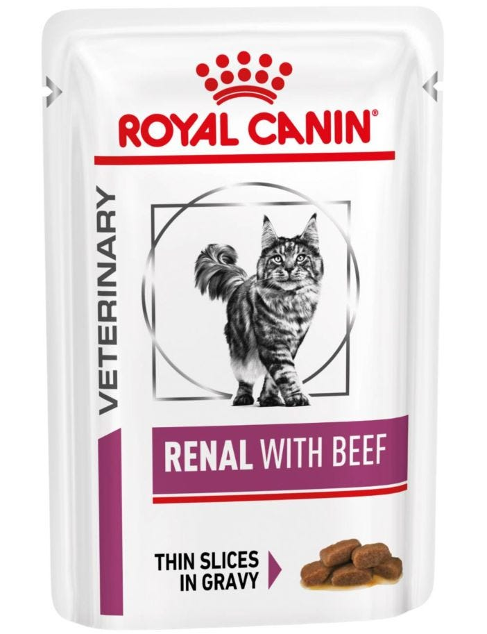 Royal Canin Veterinary Diets Wet Cat Renal Beef